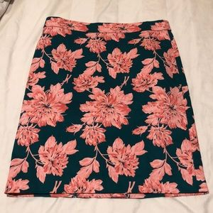 NWOT j crew pink and green floral pencil skirt